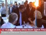 İçişleri Bakanı İdris Naim Şahin  Foça'da