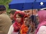 Burials for 66 Muslims killed during Bosnian war