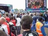 IRISH FANS and LOS MOKOS Finale Heineken Cup Leinster - Ulster European village LOS MOKOS