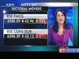 Sensex ends flat :; tech, realty, oil & gas gain