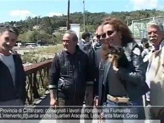 Provincia di Catanzaro: consegnati i lavori di ripristino alla Fiumarella