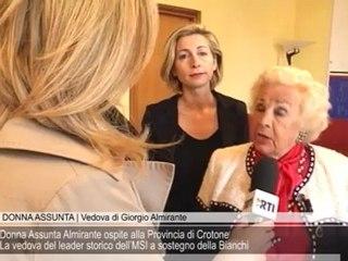 Donna Assunta Almirante ospite alla Provincia di Crotone