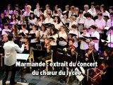 Marmande: concert du choeur du lycée