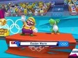 Mario et Sonic aux Jeux Olympiques de Londres 2012 - Canoé : Course en ligne 1000m (Co-op)