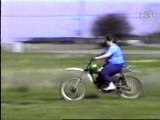 Fat Girl Crashes On Dirtbike