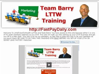 Little Ticket To Wealth-Signup Team Barry