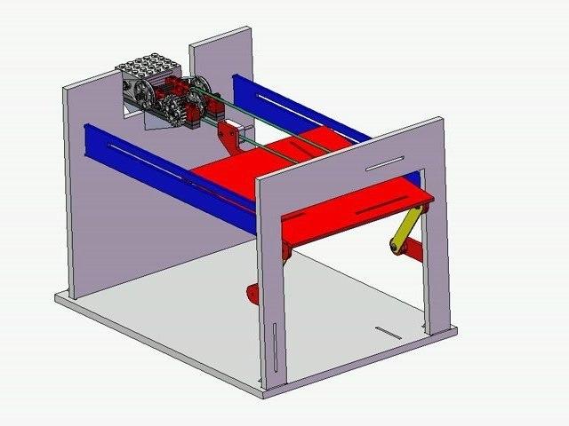 Technologie : fonctionnement de la maquette d'une porte de garage