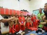 FC Montceau-Bourgogne (Foot) : montée en CFA, la joie dans les vestiaires (2/06/12)