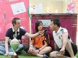 Interview d'Audrey Serve Germain et de Stéphane Ulldemolins après la victoire des féminines du FUN en coupe de l'Aude