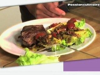 Repas Divin N°5 : Pavé de boeuf piqué au chorizo et sa sauce vierge