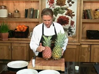 Lernen Sie richtig Ananas schälen und schneiden auf www.321kochen.tv