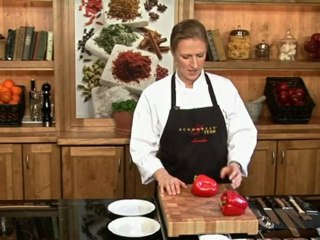 Lernen Sie richtig Paprika zu putzen, schälen & häuten auf www.321kochen.tv
