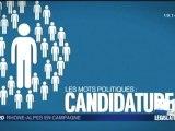 """Le mot politique """"Candidature"""" -  Elections Législatives 2012"""
