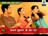 Gunjan and Mayank take jibe at each other in _Sapne Suhane L