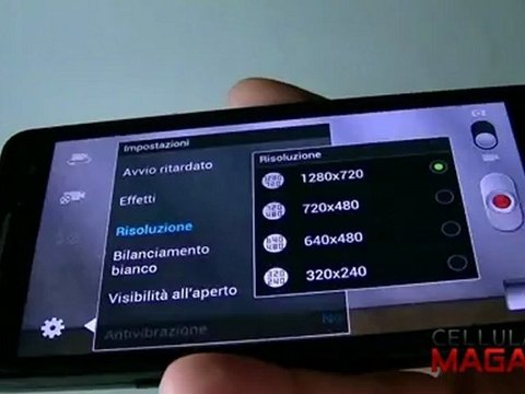 la fotocamera nel samsung Galaxy S3