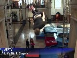 Wall trampolinists make jump from circus to extreme sport