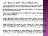 UNITED ADVISORY PARTNERS: United Advisory Partners, Inc