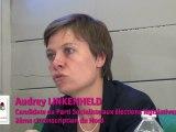 Audrey Linkenheld au débat organisé par Osez le Féminisme