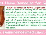 Best Home Remedies for Gout or Natural home treatments