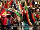 Bolivians march for ouster of Canadian... - no comment