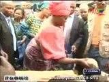 Claudia Lemboumba Sassou Nguesso au chevet des vendeuses du quartier 68 à Talangaï