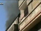 Syria فري برس حمص جورة الشياح تساقط القذائف على الحي و تصاعد الأدخنة 9 6 2012 Homs