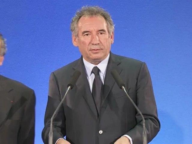 François Bayrou - Discours 1er tour des législatives - 100612