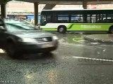 Fuertes precipitaciones intermitentes en Bilbao