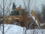 SNOW PLOW STUCK and still snowing in Moncton