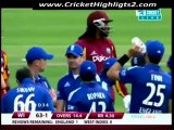 Chris Gayle Five Sixes against England 2nd ODI Video Highlights 19th June 2012