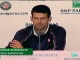 """Roland Garros, Finale -  Djokovic : """"Il y en aura d'autres"""""""