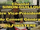 Jean-Luc Bleunven - Le soutien du jour : Chantal Simon-Guillou, 1er vice-présidente du Conseil Général du Finistère