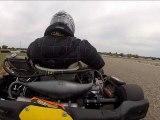 Duel Karting KZ 125 et crash au freinage, Tony Kart VS CRG, GoPro 2 onboard