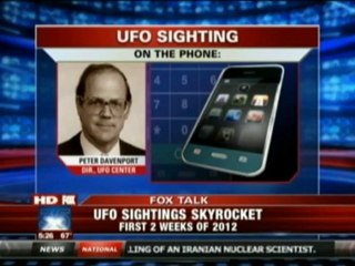 FOX News- UFO Sightings on the Rise in 2012