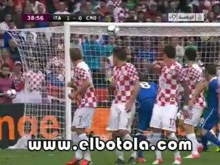 هدف إيطاليا الأول ضد كرواتيا