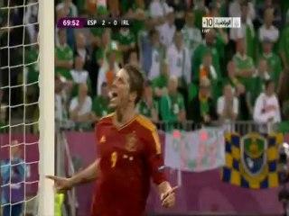 الهدف الثالث لاسبانيا أمام ايرلندا
