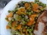 petits pois frais aux carottes