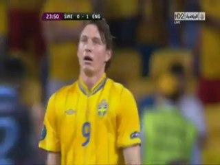 الهدف الاول لانجلترا أمام السويد