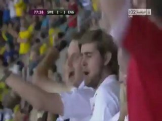 الهدف الثالث لانجلترا أمام السويد