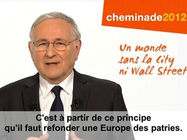 Remettre l'économie sous contrôle citoyen / clip officiel présidentiel Cheminade 2012