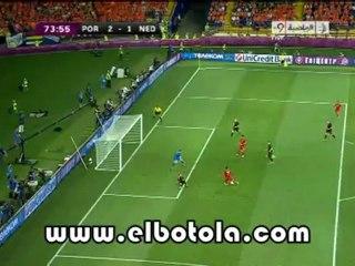 هدف البرتغال التاني ضد هولندا