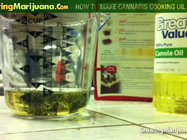 Cooking With Weed – How To Make Cannabis Cooking Oil – Part 1