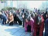 Llanto colectivo en Pyongyang por la muerte de Kim Jong-il - North Korea´s cry Kim Jong-il dead
