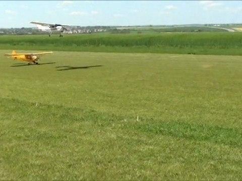 Patrouille  Piper et Cessna avec fabien