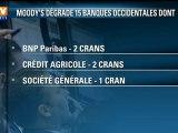 3 banques françaises dégradées par l'agence Moody's