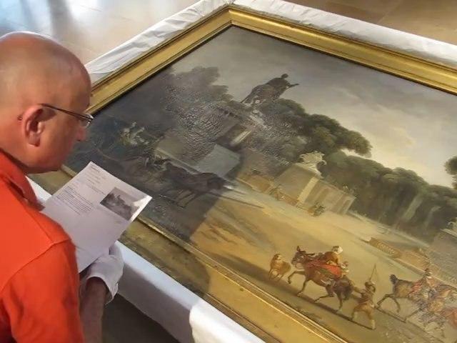 Exposition Marigny à Blois - constat d'état sur une peinture de la place Louis XV