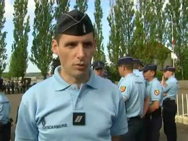 Hommage des gendarmes verdunois à Alicia Champlon