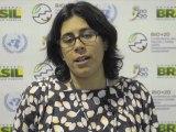 Conférence de Rio+20 : la minute de Rio interview  Anabella Rosenberg, responsable des questions environnementales à la Confédération syndicale internationale