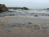 Vertido playa Palmera Candás, Carreño Asturias 26 junio 2012