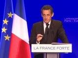 Nicolas Sarkozy présente son programme